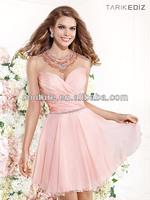 2014 Spring Tarik Ediz designs teenage girls puffy bottom Cocktail Dresses XT-673 short puffy dresses