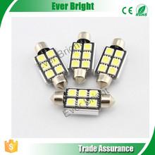 36mm / 39mm / 42mm Nonpolar Led Canbus Error Free 5050 3 Chip 6SMD 108LM Festoon Lights led t10 canbus led chips 70w