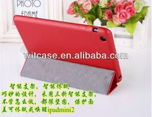 2014 New Product Leather Smart Cover Case for Apple ipad mini tablet PC