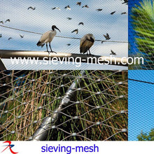 China stainless steel 304/316 wire rope mesh netting for macaw cages