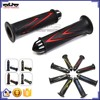 """BJ-HB-049 High quality Universal Red 7/8"""" Aluminum Bar Ends Soft Rubber Motorcycle Hand Grips Motorcycle Handlebar"""