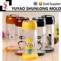 Criativa bonito dos desenhos animados de parede dupla garrafa de água de vidro latas de vidro de alta temperatura