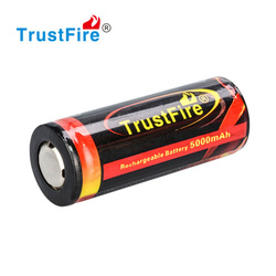 Trustfire wholesale rechargeable 26650 Battery 3.7v li-ion battery 5000mah with PCB Protection 26650 lithium ion battery