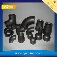 ANSI B16.9 black iron pipe butt welded fittings