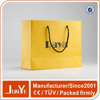 rope handle laminated custom logo retail paper grocery bags for sale