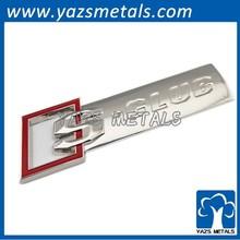 metal auto letter emblem with 3M sticker