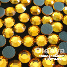 Factory wholesale SS6 Topaz color chinese rhinestones,full color and full size hot fix dmc rhinestone