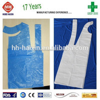 70*140cm high quality cheap price disposable eco-friendly PE catering apron