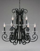 Vintage ceiling lamp 9 candle lights lighting fixtures black chandelier pendant