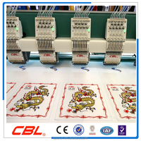 24 Head regular speed flat embroidery machine