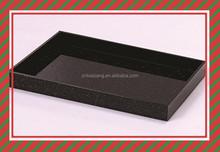 Bottom price shiny black fancy designer food serving trays indian serving tray