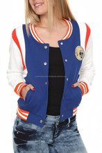 2014-15 Wholesale collar polyester american varsity jacket/custom band high school varsity top 10 winter coating jackets