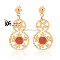 Dangle Earrings With 18K Gold Plated,Fashion Dangle Earrings With Words 8 Shape,New Design