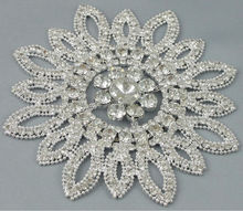 Big Flower Decorative Crystal Rhinestone Applique Trim RA14