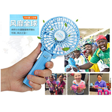 Hand Held Electric Air Cooler Rechargeable Portable Handle Folding USB Mini Fan with 18650 Battery