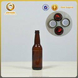 Wholesale China supplier 330ml crown brown empty beer bottles