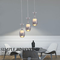3 heads square wine glass bottle pendant lamp high quality modern indoor decorative pendant lamp dining lamps bar lighting