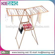 de acero plegable de madera de bambú de color de la mariposa bastidor de tela stand