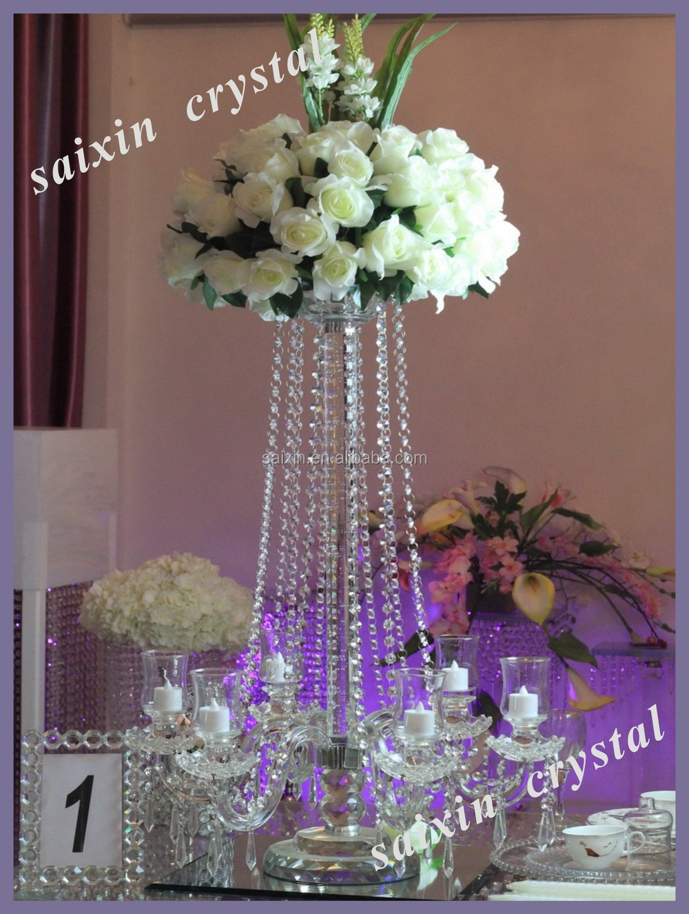 Crystal Candelabra Wedding Centerpiece And Flower Stand Buy