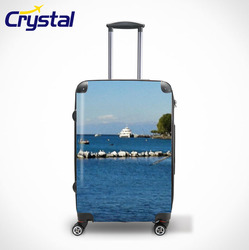 2015 Female and Ladies Hot Selling Airport Carry-on PC ABS Trolley Luggage with TSA Lock 20'' 24'' 28''