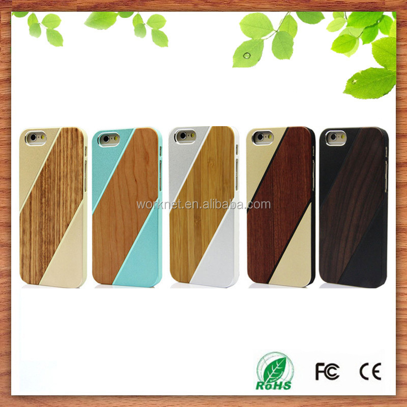 eco friendly wood phone case with aluminum metal bumper for iphone 6 6s for iphone 6s aluminum. Black Bedroom Furniture Sets. Home Design Ideas
