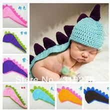 JPhat155 baby photo prop crochet dinosaur hat children hat knitted animal handmade beanies caps free shipping