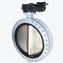 Gear Operated Large Size Concentric double flange butterfly valve