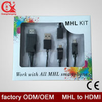Samsung S3 S4 S5 MHL to HDMI with OTG cable