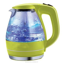 Borosilicate glass electric kettle with full cooper power cord with VDE plug