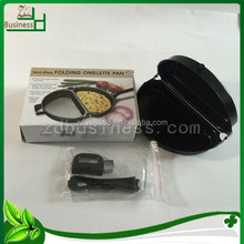 portable mini pancake pan egg frying pan half circle shape
