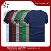 cotton v neck t shirt/plain t shirt v neck design/mens slim fit t shirt China wholesale