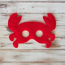 Fun party favors red crab felt mask for school costume party