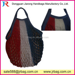 Mixed color knitted Mesh Carry bags Fruit tote