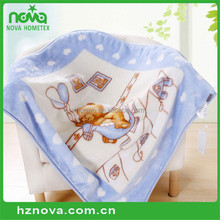 China OEM Manufacturer Polyester Baby Blanket Plain Knitted