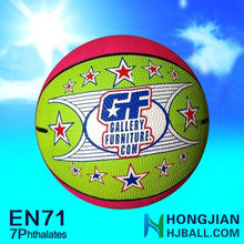 all size rubber basketball promotional 5