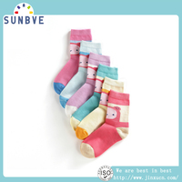 New Design Gesture Pattern Baby Girls Socks Cheap Cotton Printed Socks Wholesale