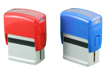 plastic and rubber self inking stamp