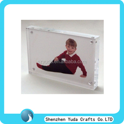 View clear magnetic acrylic desktop photo frame plastic 4x6 craft block frame