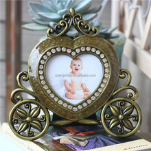 2015 new factory cufflink round mental photo frame golf with reasonable price