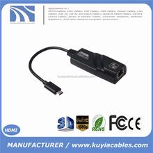 "USB 3.1 Type C to RJ45 LAN Port Adapter Max to 1000M Gigabit Ethernet Network LAN Adapter For 2015 Macbook 12 "" Surface Pro 4"