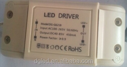 CE/UL approved 25-32w 450ma DC40-80V triac dimmable led driver for led downlight