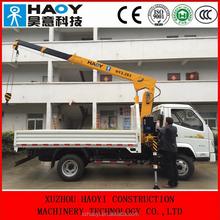 mini crane of 3.2t telescopic hydraulic crane manufacturer in china with high quality