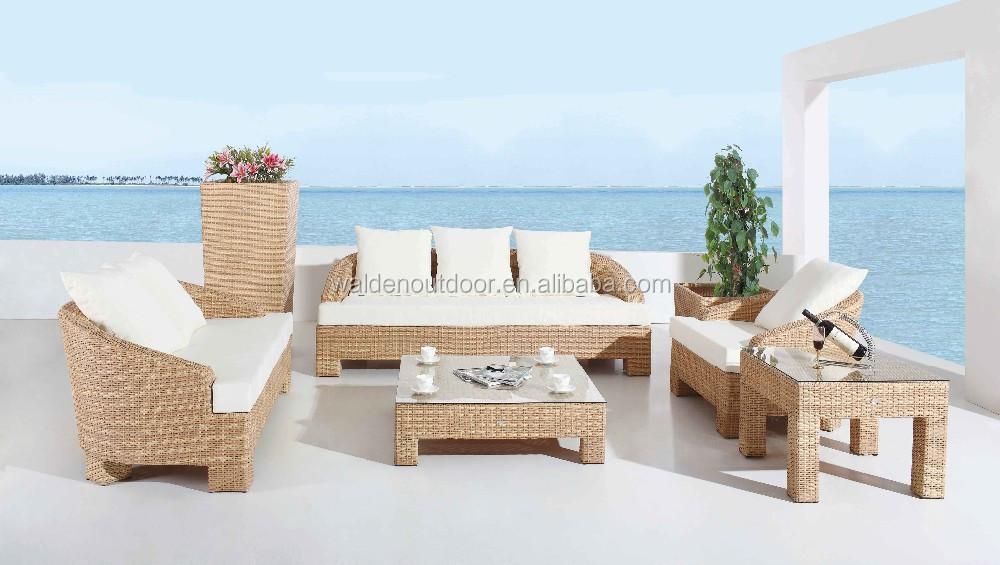 Barato poly rattan muebles de jard n de mimbre jard n sofa for Set muebles jardin baratos