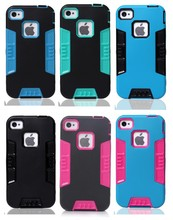 2015 3 in 1 Hybrid Full Protective Dual Layer Case For iPhone 4S 5S 5C silicon Mobile Phone Cases
