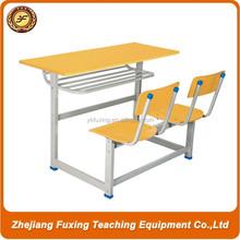 school desk and chair/wood school desk