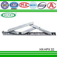 square groove friction stays, top- hung window hinges
