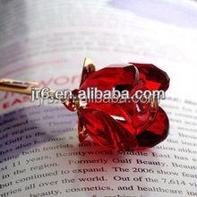 Red crsytal rose wedding favors gift