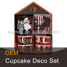 Halloween decorative baking cupcakes