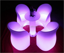 colorful modern plastic led light sofa with remote control