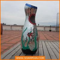 Modern Fiberglass Dustbin/ Trash Can for Decoration